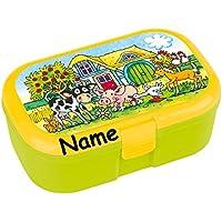 Preisvergleich für Lunchbox * BAUERNHOFTIERE plus WUNSCHNAME * für Kinder von Lutz Mauder // Brotdose mit Namensdruck // Perfekt für Mädchen & Jungen // Bauernhof Farm Vesperdose Brotzeitbox Brotzeit (mit NAMEN)