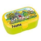 Lunchbox * BAUERNHOFTIERE plus WUNSCHNAME * für Kinder von Lutz Mauder // Brotdose mit Namensdruck // Perfekt für Mädchen & Jungen // Bauernhof Farm Vesperdose Brotzeitbox Brotzeit (mit NAMEN)