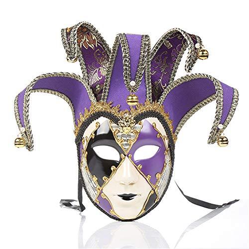 Aishankra Damen Gemalt Deko-Maske Venezianische Mask Halloween Kostüm Dekoration Maske Für Party Cosplay Weihnachten Hochzeit Prom Karneval Masquerade Festival Maskenball - Gesicht Gemalt Kostüm