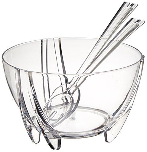 Prodyne sb-3-c ProDyne Acryl Salatschüssel mit Salatbesteck Illusion Iced