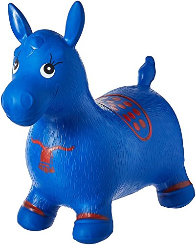 Babytintin™ Hopping Horse, Outdoors And Indoor Ride On Bouncy Animal Play Toys, Inflatable Hopper Plush Covered, Activities Gift For 2, 3, 4, 5 Year Old Kids Toddlers Boys Girls Multi Color