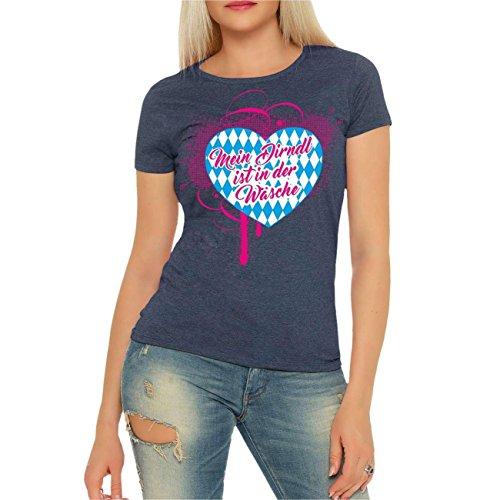 e48858db210f3b Frauen und Damen T-Shirt Mein Dirndl ist in der Wäsche Größe XS - 3XL