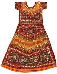 Pikaboo Red Turquoise Girls Chaniya Choli Dress (1-2 Years)
