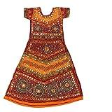 Pikaboo Red Turquoise Girls Chaniya Choli Dress (10-12 Years)