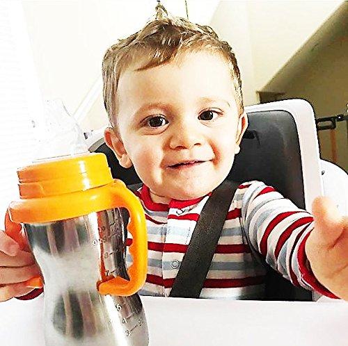 Thinkbaby Trinklernflasche, Schnabeltasse, Trinklerntasse, Trinkbecher aus Edelstahl – Schnabelbecher aus rostfreien Edelstahl für Kleinkinder – Kein BPA – 290ml (9oz) - 2
