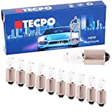 TecPo 10x H6W Premium STANDLICHT MITTELSOCKELSTANDLICHT 12 Volt 6 WATT BAX9S KFZ AUTOLAMPE GLÜHBIRNE VORNE