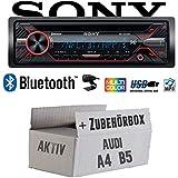 Audi A4 B5 Aktiv - Autoradio Radio Sony MEX-N5200BT - Bluetooth CD MP3 USB Auto - Einbauzubehör - Einbauset