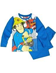 Feuerwehrmann Sam Kollektion 2016 Schlafanzug 92 98 104 110 116 122 128 Pyjama Fireman Sam Jungen Neu Top Blau