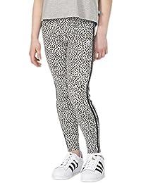 Adidas - Mallas para mujer YWF, niña, YWF, Medium Grey Heather/Black/White, 164