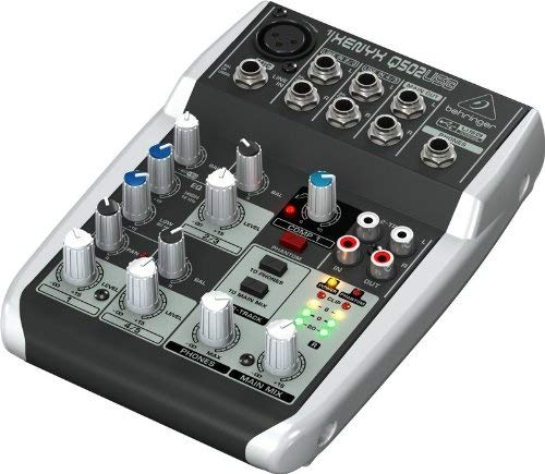 Behringer Q502USB 5channels audio mixer - Audio Mixers (5 channels, 138 mm, 184 mm, 46 mm, 600 g)