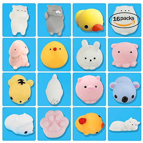 CDKJ 16pcs kawaii de Squishies décompression de jouets Squeeze toys Slow Rising anti-stress Soulagement souple Extrusion de Parfumé