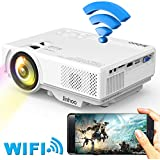 [2019 LATEST WIFI Projector] Jinhoo 3200Lumens Wireless Mini Projector 1080P Support 176 Inch Display Compatible with Smartphone, tablet, TV Stick, DVD Player, PS3/PS4 Game Player, USB, TF