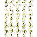 Turelifes Lot de 1 7.22 Pieds/pièce Cerise de vigne artificielles à suspendre Fleur Spray arrangements simili Guirlande Couronne de fleurs en soie Corde Home Party Mariage