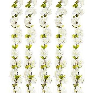 Turelifes 1 paquete de 7,22 pies / pieza de cerezos artificiales Vines colgantes flor spray arreglos de guirnalda de imitación de seda flor flor cordel hogar fiesta decoración de boda