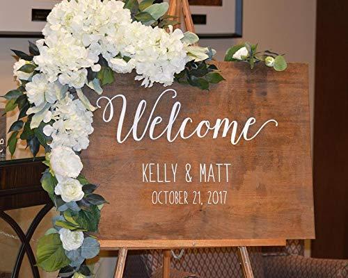 its-Willkommensschild Ideen, Willkommen auf unserer Hochzeit, rustikale Hochzeit, Willkommensschild, personalisiertes Hochzeitsschild, Empfangsschild ()