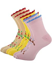 Montebello Women's Cotton Socks (Multi-Coloured, Set of 3)