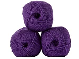 Twinkle Fashion DK Double Knitting Wool 100g Glitter Yarn James Brett (Purple...