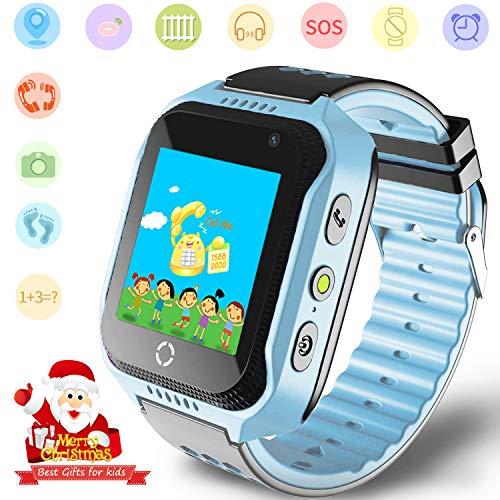 Niños Smartwatches GPS Tracker Mirar - Niño Niña telefono Reloj SOS Ayuda...