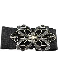 BONAMART ® Moda Mujeres de Señora Ropa Elástico Tejido Arco-nudo Amplio Cinturón Correa Pretina