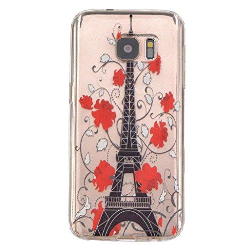 Funda Samsung Galaxy S7 Edge Xinantime Caso de TPU Torre Eiffel  A