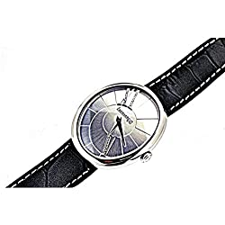 Eberhard Gilda 61008Quartz Clock (Rechargeable) Stainless Steel Dial Leather Strap