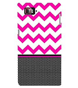 Chevron Pink Black Dots 3D Hard Polycarbonate Designer Back Case Cover for Lenovo Vibe Z2 Pro K920