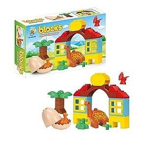 FACTORY CR- Juegos Blocks Parque Dinosaurios 26 Piezas 23X35,5X8cm Compatible (658267), (1)