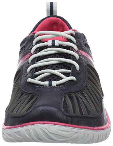 Helly Hansen W Hydropower 4, Chaussures de Sport Femme Multicolore - Azul / Rosa (598 Navy / Magenta / Silver Wh)