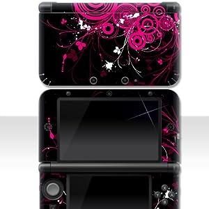 """Nintendo NEW 3DS XL Skin """" PINK FLORAL """" Aufkleber Sticker Folie Schutzfolie"""