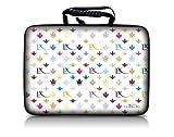 Luxburg® Design borsa per portatile rigida Hardcase 14 pollici, motivo: LX bianco