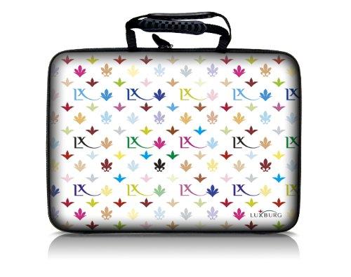 Luxburg® Design Hardcase Laptoptasche Notebooktasche für 13 Zoll, Motiv: LX Muster weiß