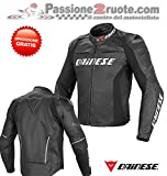 Dainese Racing D1 Pelle Lederjacke, Farbe schwarz, Größe 54