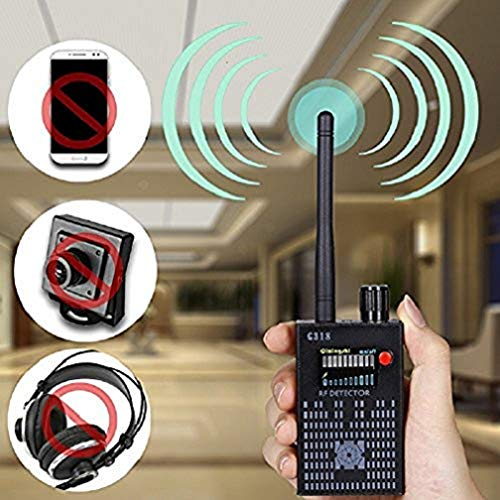 Hangang Detector de amplificación Anti-spia Detector de señal RF Spy Bug Detector inalámbrico de frecuencia escáner de escaneo GPS Tracker Finder