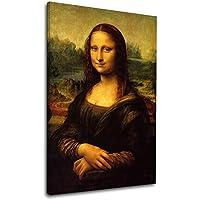 Cuadro moderno - Mona Lisa La Gioconda Leonardo Da Vinci - MonaLisa Lienzo de lona con o sin marco - elija el tamaño que prefiera - cm 50 a 130 cm de ancho (IMPRESIÓN EN LIENZO (SIN MARCO), CM 50X75)