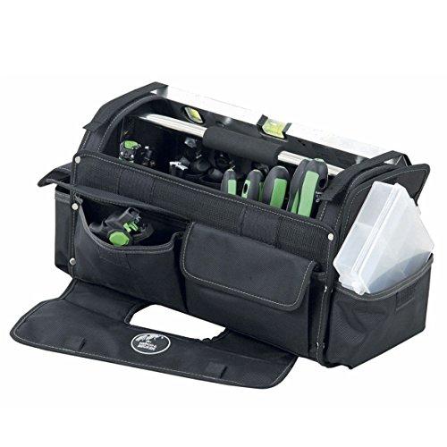 Hepco&Becker 00 5858 8019 0058588019 ORIGINAL Werkzeugtasche Tasche Metallschiene oben groß Polytex Gewebe Schwarz mit Tragegriff und Tragegurt -