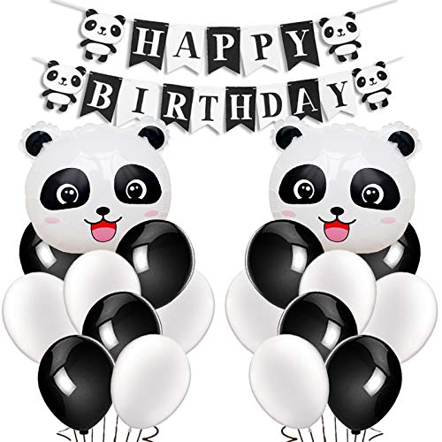 Dekorationen Supplies Panda Mylar Luftballons Happy Birthday Banner für Geburtstag Party Babyparty Dekoration ()