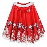 VECDY Damen Jacken,Räumungsverkauf-Mom & Me Adult Damen Umhang Familie passende Weihnachten Kapuzen Cape Santa Coat Weihnachtsmantel(Rot,50)
