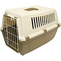 Rosewood 02531 Vision Classic 60 Hunde-Transportbox aus Kunststoff, Champignon