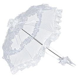 VON LILIENFELD® Parasole Ombrellino Sposa Donna Accessori Salomea bianco