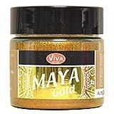 Viva Decor Maya Gold -Alt Gold- 45ml Metallglanz Farbe, Metallic Effekt