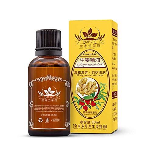 Huile Essentielle de Gingembre Naturel 30ml Huiles de massage,Pour Se Relaxer...