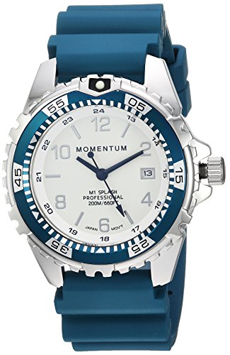 Momentum Unisex-Adult Analogue Classic Quartz Watch with Rubber Strap 1M-DN11LT1T