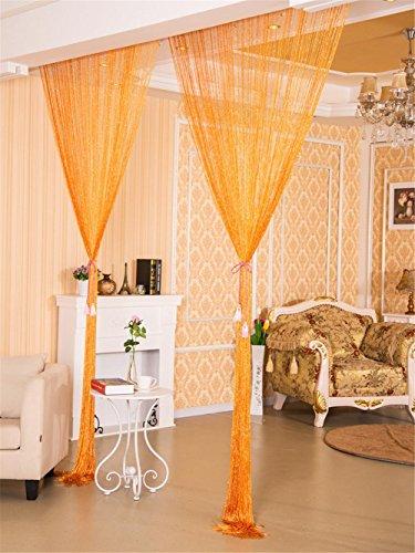 Vorhang New Style Silber Seide Vorhang Wohnzimmer / Tür / Fenster Partition Sheer Vorhänge Line Vorhang Wide300 * high280cm (120 * 112-Zoll) , 8 Line Sheer