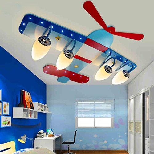 Bambino in camera plafoniera camera per bambini a led lampade di illuminazione occhio lampada da letto cartone animato ragazza aerei per creativi