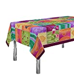 ExclusivoCIR Manteles Springie Estampados Antimanchas Colores Primaverales Decoracion Hogar (Redondo)