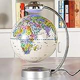 XHHWZB Floating Globe, Schreibtisch mit magnetischem schwebendem und drehendem Planetenerde-Globus-Ball mit Weltkarte, Cooler und pädagogischer Geschenkidee für ihn - 8-Zoll-Ball mit Levitationsstand