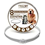 "fretod flea and tick collars for dogs cats - 8 month protection -adjustable 23"" length fits for small medium large pets FRETOD Flea and Tick Collars for Dogs Cats – 8 Month Protection -Adjustable 23″ Length fits for Small Medium Large Pets 51zmy0iWhGL"
