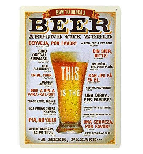 Metal Poster Bier Schilder für Bar, Home, Restaurant Wall Plaque -