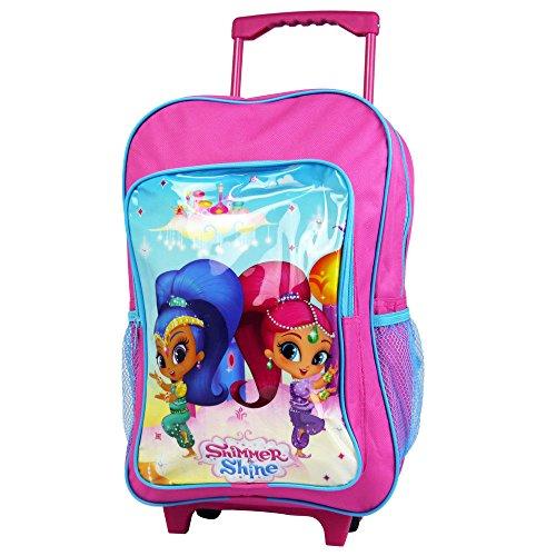 (Shimmer & Shine 1019hv-7427Nickelodeon Deluxe Trolley Rucksack Kabine Kinder Pink Koffer)
