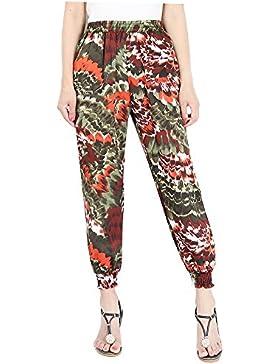 Mujer Pantalones Harén - Cintura Elástico Pantalón Moda Casual Slim Pantalones para Deportes Pantalones de verano...